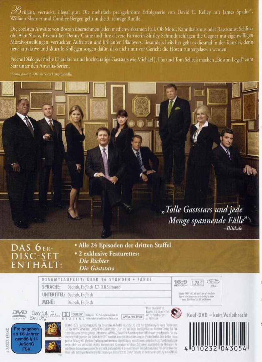 Boston Legal Episode 4.17 The Court Supreme | Episode ...