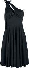Voodoo Vixen Selma That Little Black One Shoulder Bow Dress powered by EMP (Mittellanges Kleid)