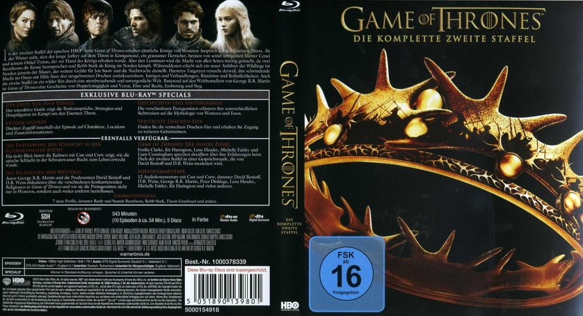 Game of Thrones - Staffel 2: DVD oder Blu-ray leihen ...