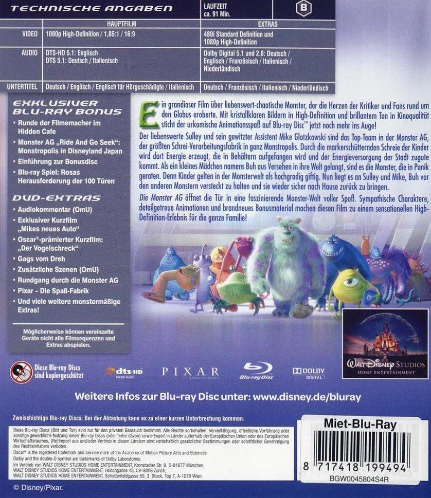 Die Monster AG: DVD oder Blu-ray leihen - VIDEOBUSTER.de