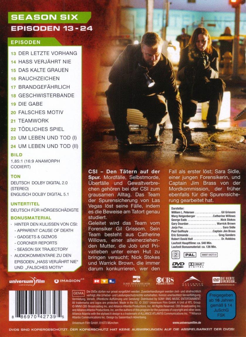 Staffel 6: DVD Oder Blu-ray Leihen