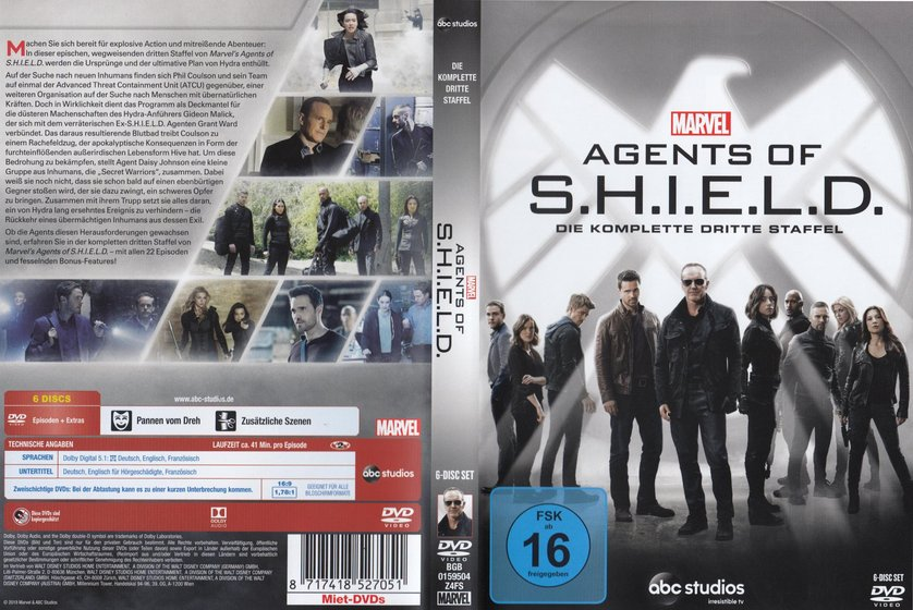 agents of shield staffel 3 deutsch dvd