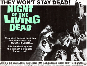 1968er Postermotiv zur 'Night of the Living Dead' © Continental