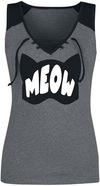 Batman Catwoman - Purrfect! Top grau schwarz powered by EMP (Top)