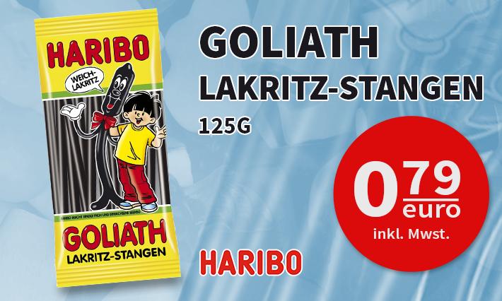 Haribo Goliath Lakritz-Stangen (125g)