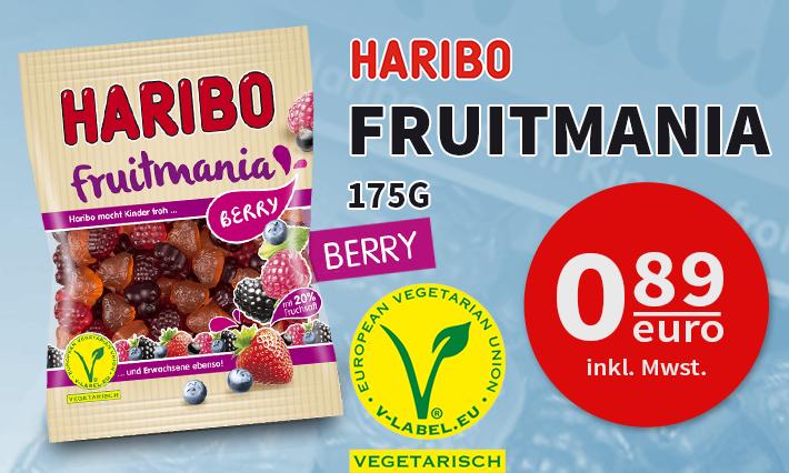 Haribo Fruitmania Berry (175g)